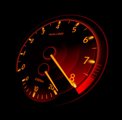 Tachometer. Vector illustration