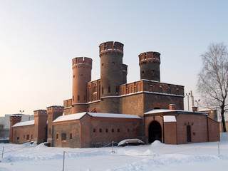 Калининград. Фридрихсбургские ворота зимним утром