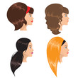 Girls with different hairstyle