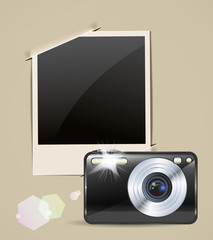 camera and photo frame