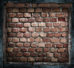 muro vintage in cornice grezza