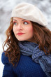 Elegant woman outdoor in winter