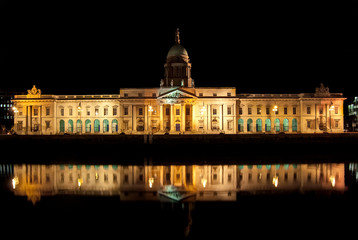 The Custom House, Dublin, Ireland - at night