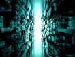 The digital blue tunnel