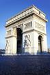 vertical view of Arc de Triomphe