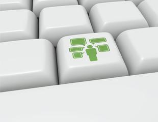 Keyboard button Social Media