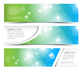 Set of spring horizontal banners