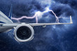 Flugzeug im Unwetter