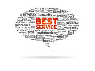 Speech Bubble - Best Service