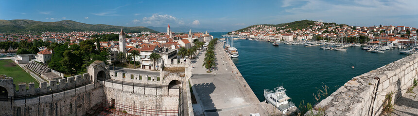 Panorama of Hictoric Center of Trogir, Croatia