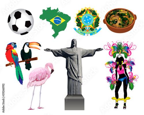 巴西的图标 库存矢量图和库存照片