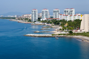 Puerto Vallarta skline and waterfront