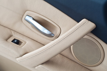 Panel doors are made with genuine leather