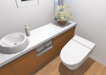 トイレの鳥瞰パース