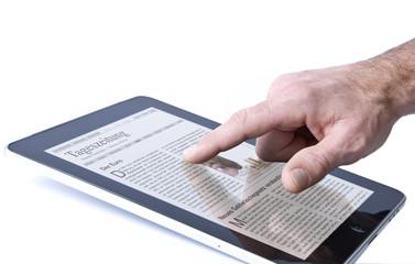 Tageszeitung lesen mit Tablet PC