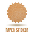 Blank paper sticker, add your text
