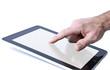 Hand berührt Touchpad