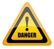 Vector danger sign