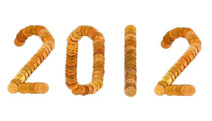 Число 2012 из монет