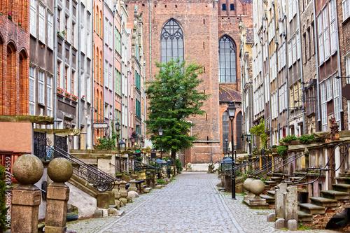 Naklejka Mariacka Street in Gdansk