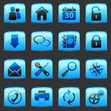 button Blue Web