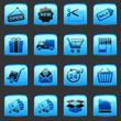 button Blue Shopping