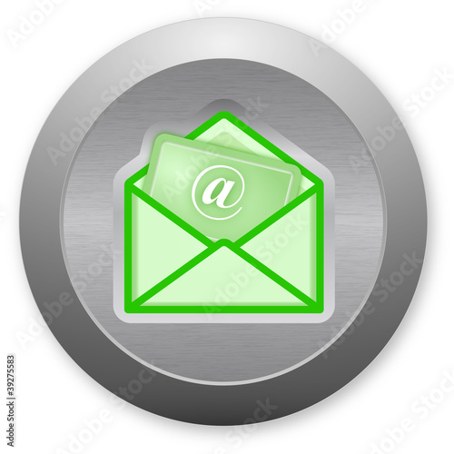 Electronic mail envelope button