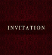 Retro dark invitation card