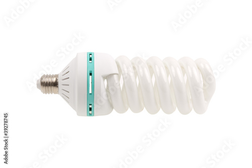 Fluorescent Light Bulb energy saving isolated on white