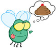 Green Fly Flying and Dreaming About A Poop Cake