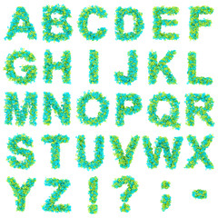 Alphabet ABC Buchstabensalat 3D