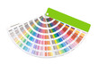 open color guide swatch on white