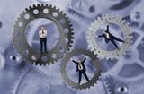 Teamwork and team effort concept poster