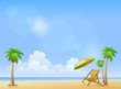 Summer beach background