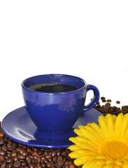 Coffee cup and white background