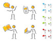 People communication icons scribble