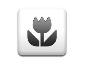 Boton cuadrado blanco icono macro