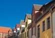 Häuser in der Östlichen Altstadt von Rostock.