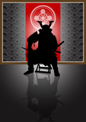 A stock Vector illustration of a Japan Landlord on the throne