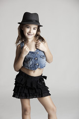 Fashion little girl