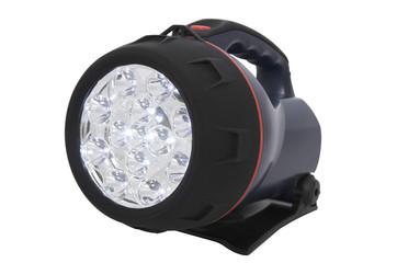 LED flashlight on support