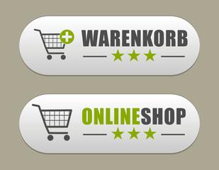 Buttons Onlineshop / Warenkorb