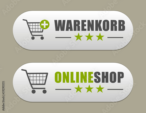 Buttons Onlineshop / Warenkorb