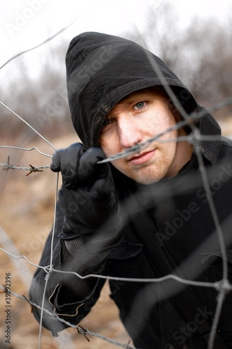 Hooded man