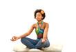 Yoga exercise fresh beautiful ethnic woman