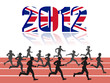 Runners  with 2012 UK Flag. vector file