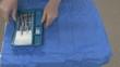 Surgeon displaying sterile instruments