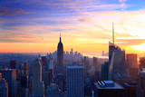 Fototapety New York City skyline at sunset
