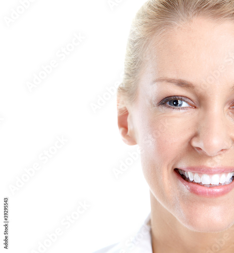 Happy smiling woman.