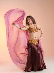 Beautiful exotic belly dancer